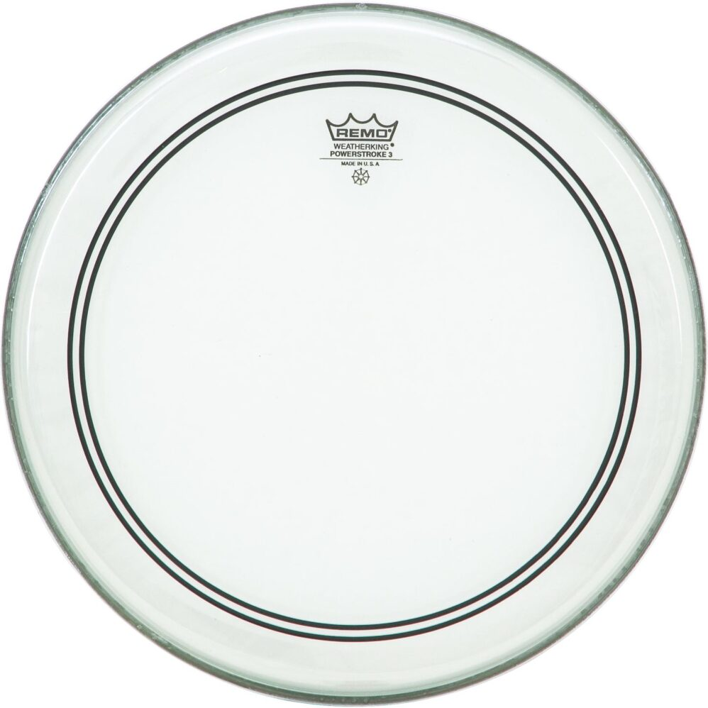 "REMO POWERSTROKE 3 CLEAR 22""-0"