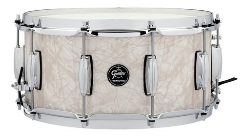 "GRETSCH 14""X6,5"" RULLANTE RENOWN MAPLE VINTAGE PEARL-0"