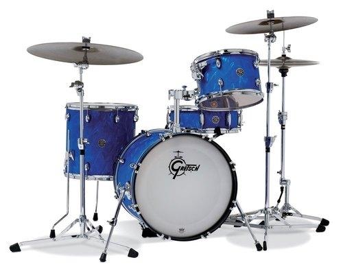 GRETSCH SHELL-SET CATALINA CLUB BLUE SATIN FLAME-0